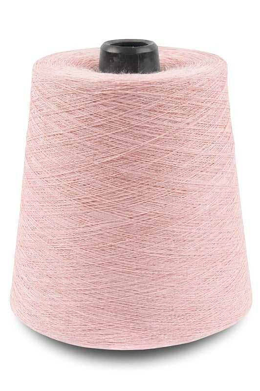 Linen yarns in pink colour 1(2) 1