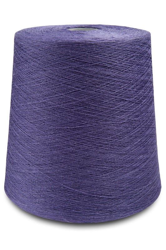 Linen yarns in violet indigo colour 3(5) 1