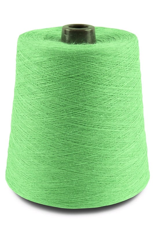 Linen yarns in neon green colour 9(3) 1