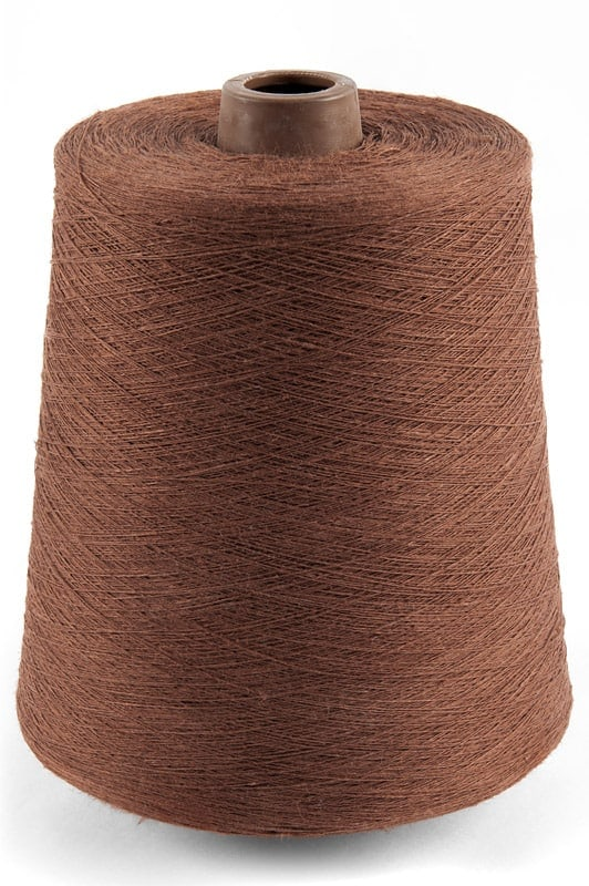 Linen yarns in brick red colour 10(5) 1