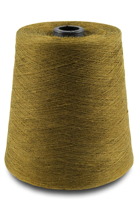 Linen yarns in golden brown colour 11(17) 1
