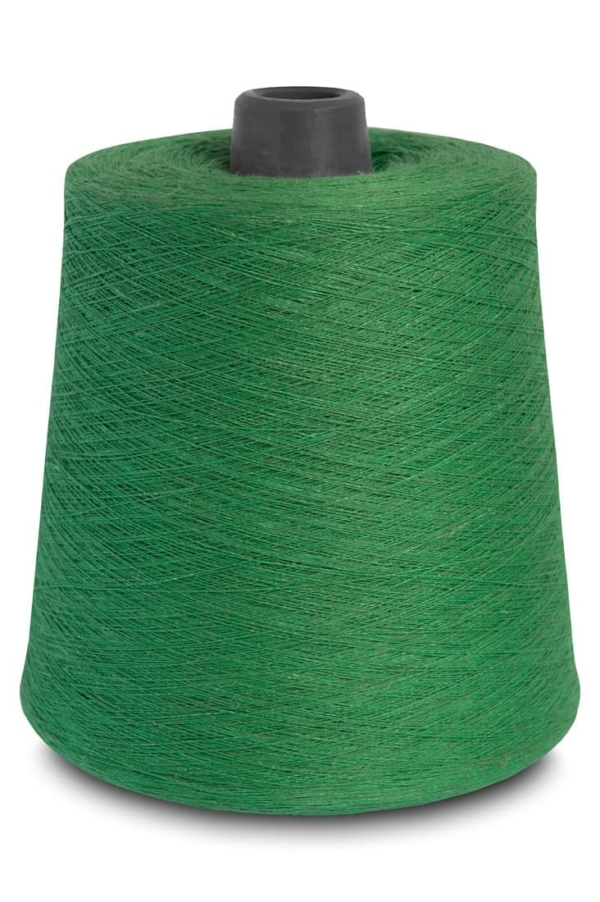Linen threads in spinach green 9(10) 1