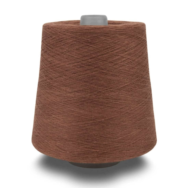 Linen yarns in brown 11(6) 1