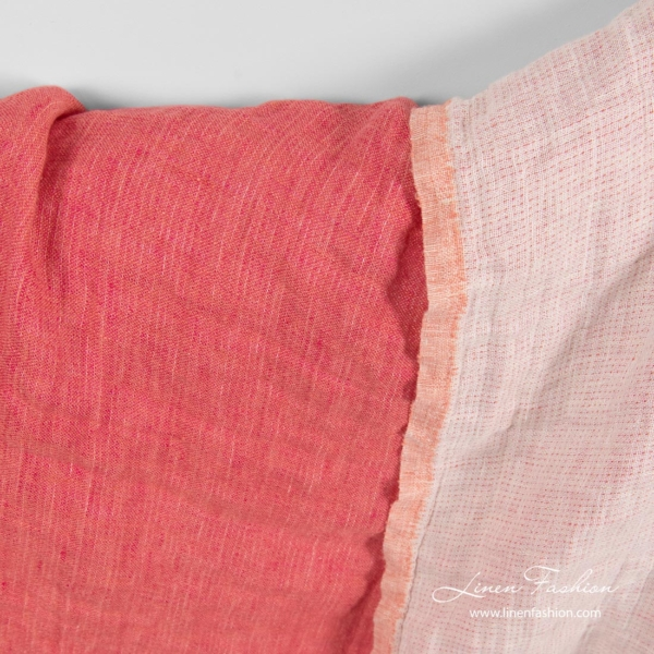Washed linen fabric, double - layer