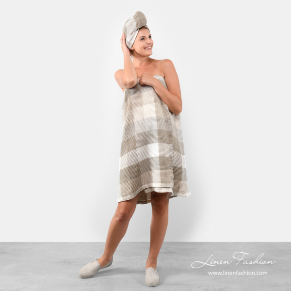 Linen body wrap towel