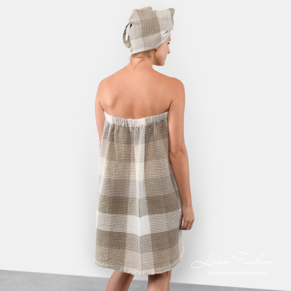 Linen body wrap towel - back side