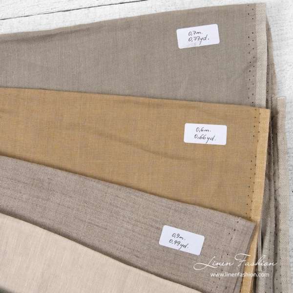 Linen Fabrics Cuts, Set No. 108