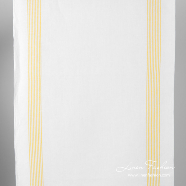 Fabric with yellow stripes