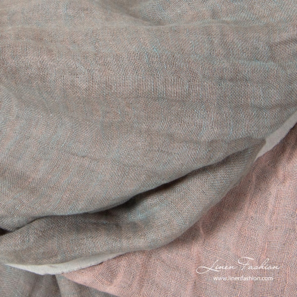 Two sided linen fabric, softened