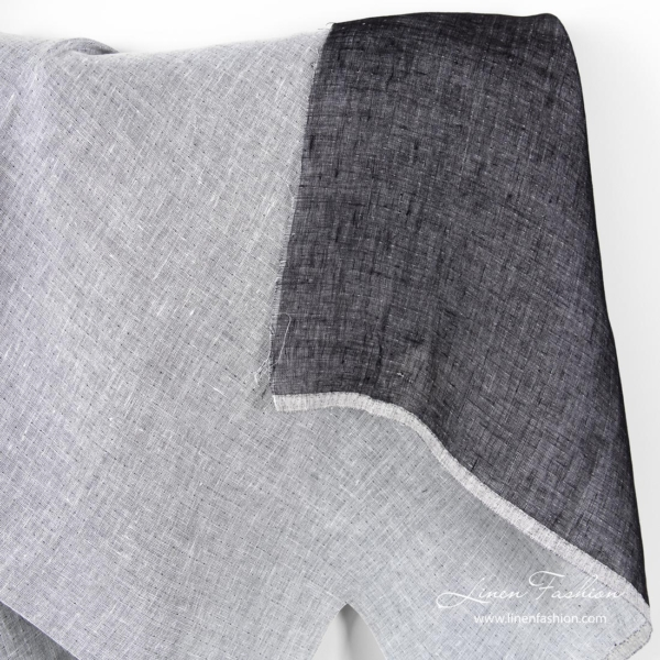 Two sided linen fabric