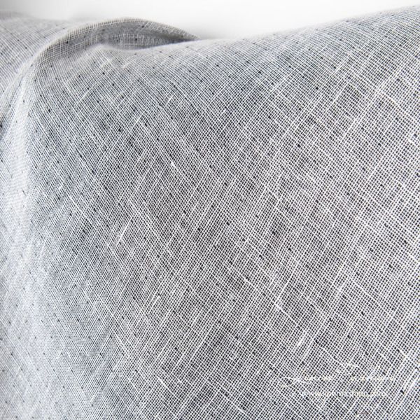 Two sided linen fabric, white side