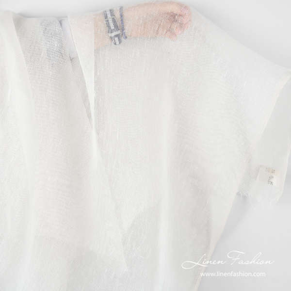Lightweight 100% linen fabric in off white