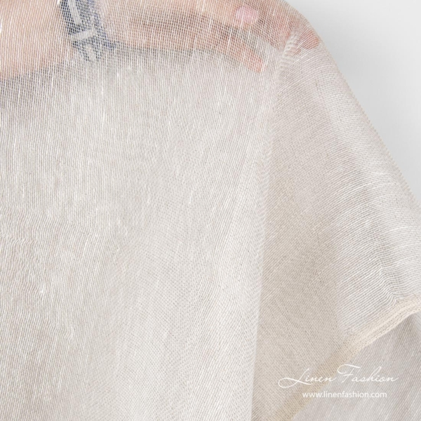 See through linen fabric