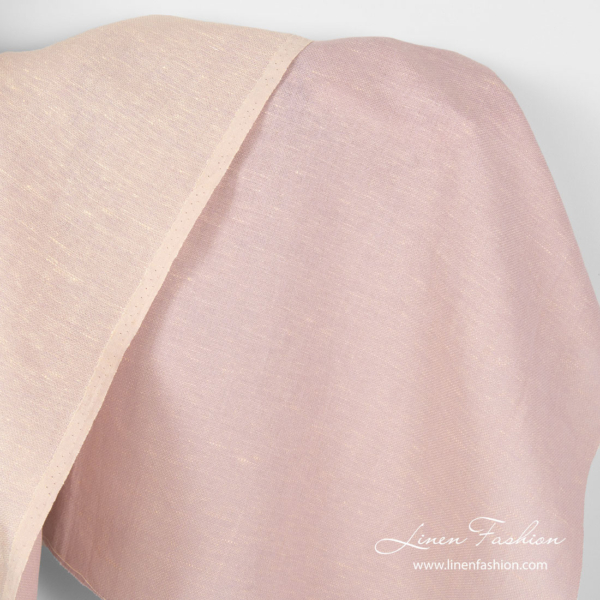 Reversible fabric in cream lilac color