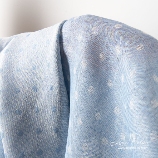 Double sided linen fabric with bubbles