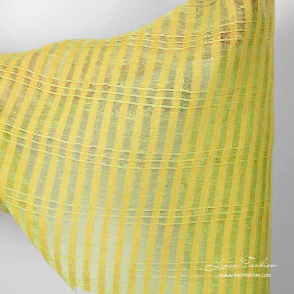 Yellow green gauze fabric for curtains