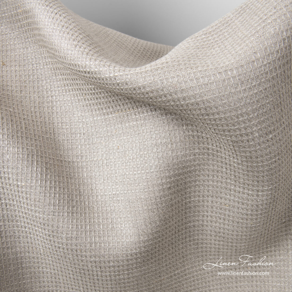Pure linen heavy weight waffle fabric