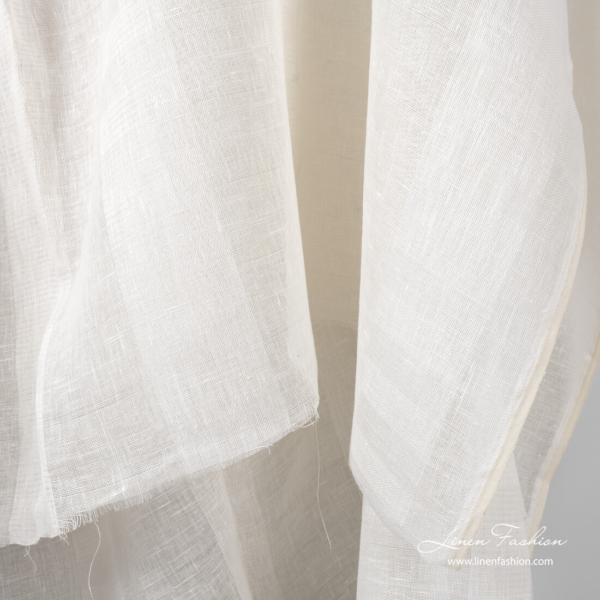 Off white gauze linen fabric