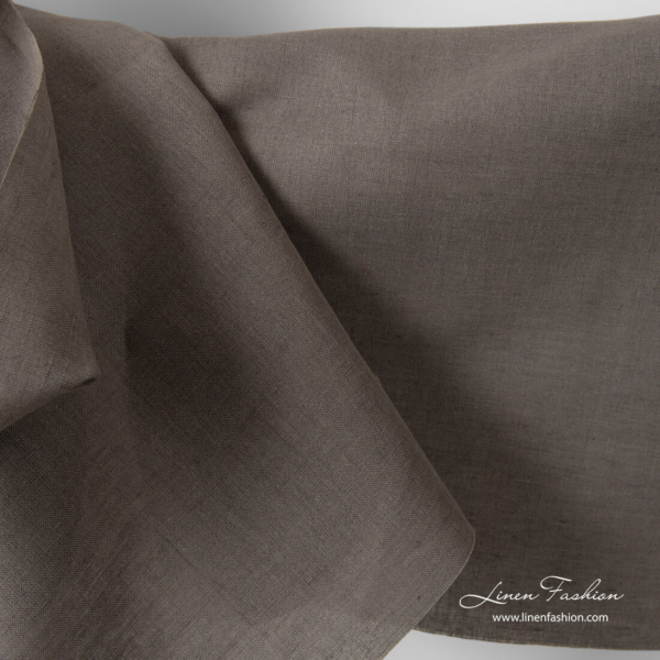 Grey linen cotton fabric