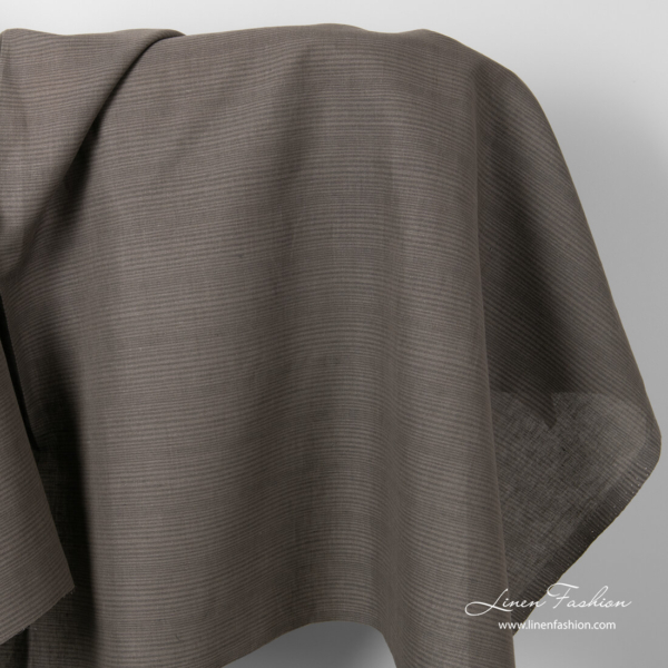 Linen cotton fabric with thin stripes