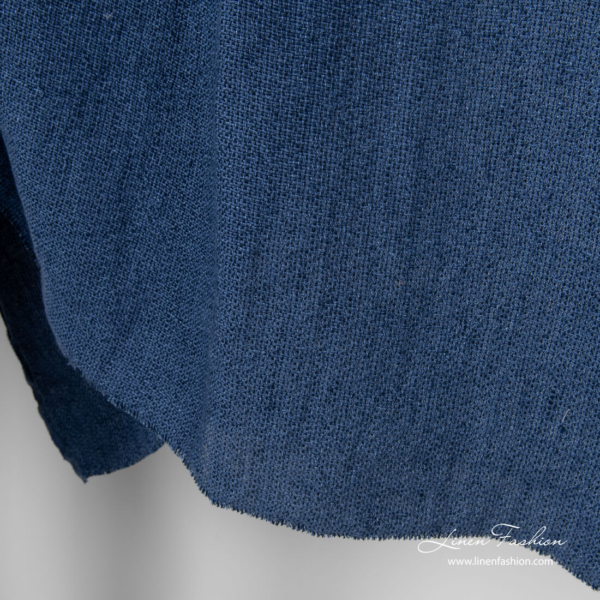 Dark blue and navy black mix canvas fabric, washed