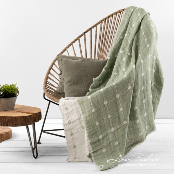 Muza green double sided blanket