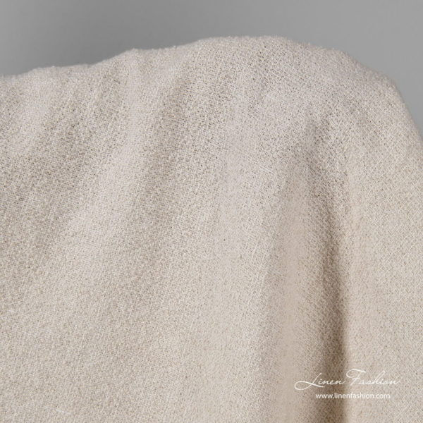 Off white linen cotton fabric, washed
