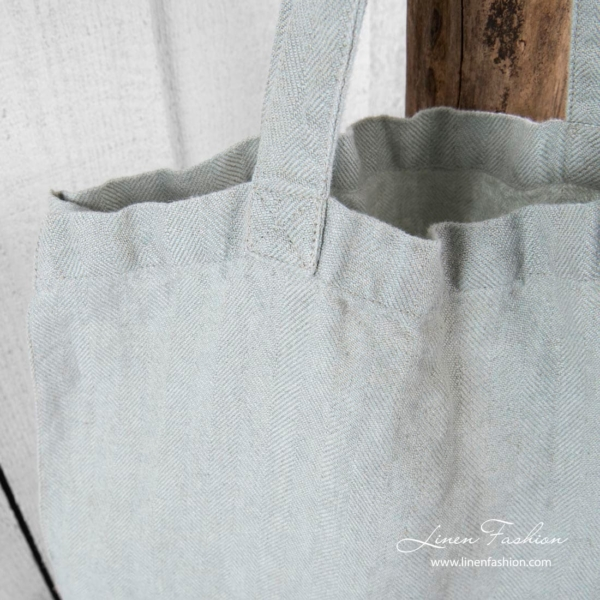 100% linen tote bag with comfortable length handles