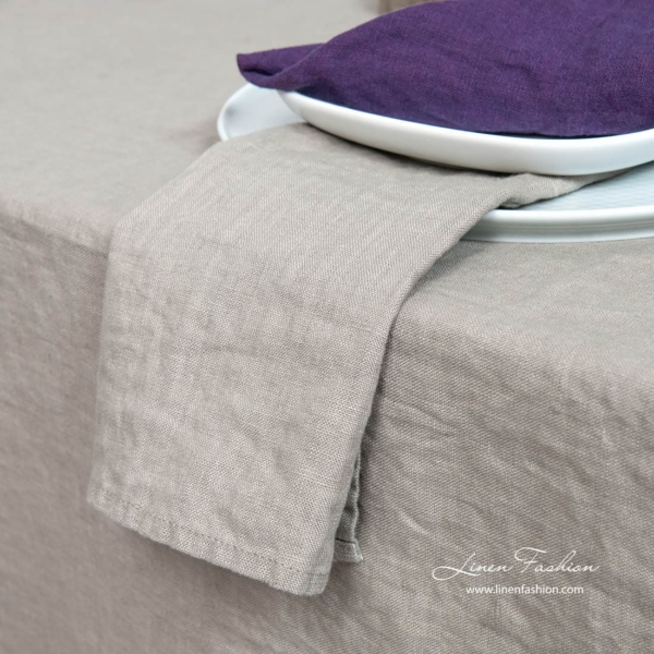 Linen napkin in brownish grey color.