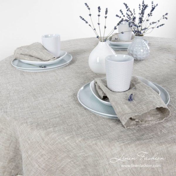 Astra tablecloth in light grey.