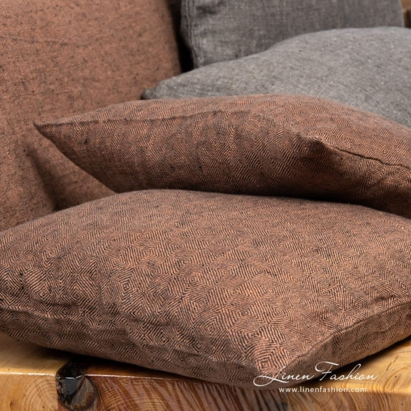 Brown colored cushion cover, leila.