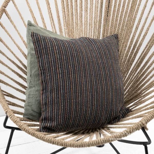 Grey linen cushion cover, ada.
