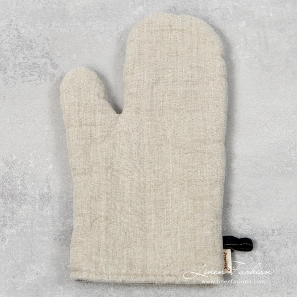 Grey linen oven glove, Jazz.