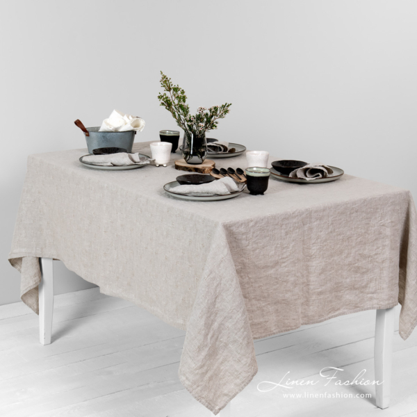 Grey linen tablecloth, Solo.