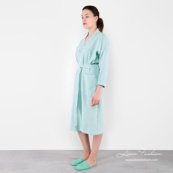Womens robe in light green color, MARY.